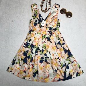 J. Crew Sleeveless Floral Fit Flare Dress
